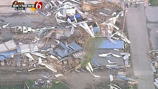 Quapaw Tornado Rated An EF-2 By National Weather Service
