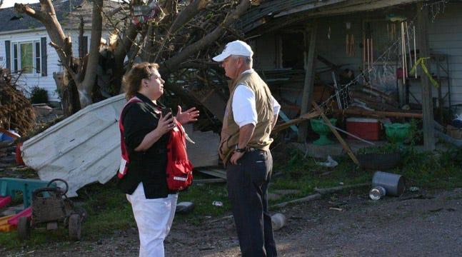 Tulsa Red Cross Volunteers Helping In Quapaw