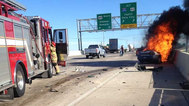 Volunteer Firefighter: Two Strangers Saved Woman's Life After Tulsa Crash