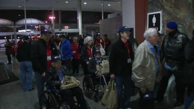 Oklahoma Military Veterans Take Honor Flight To Washington