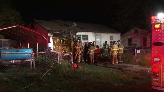 Tulsa Firefighters Rescue Cat From Burning Garage