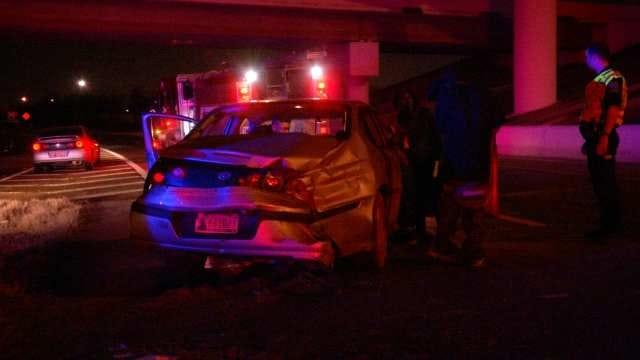 Slick Roads Cause Overnight Tulsa Wreck