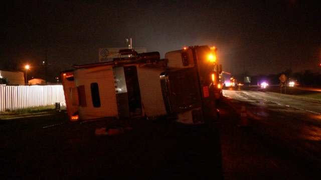 Watermelons Turned To Mush When Semi Overturns In Tulsa