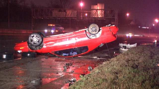 No Injuries In Separate Rollover Wrecks In Tulsa