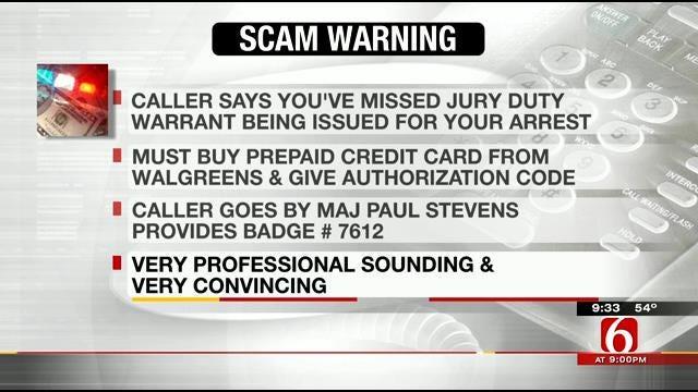 Tulsa Deputies Warn About Jury Duty Scam