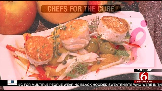 Chefs For A Cure: Pan-Seared Salmon With Orange Fennel Salsa