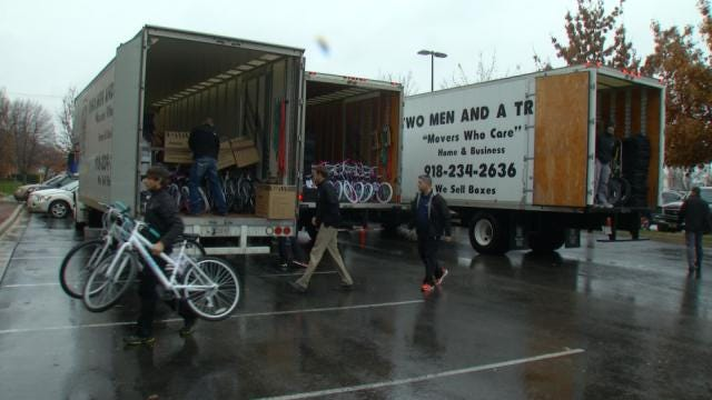 Local Company Donates 3 Truck Loads To Bikes For Tykes