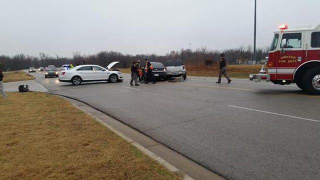 Driver Injured In Crash At Tulsa's Cherokee Industrial Park
