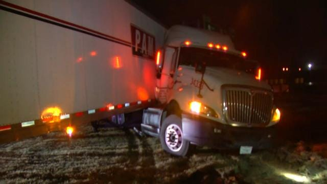 Jack-Knifed Semi Slows Traffic On I-44 In Catoosa