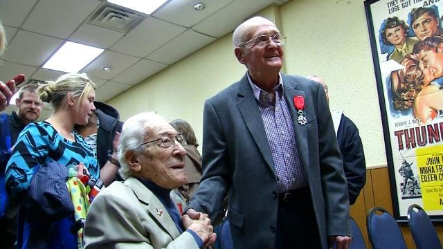 Oklahoma Veterans Honored, Made French Knights