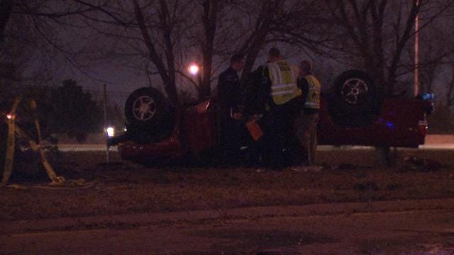 One Dead After Car Rolls Over On Broken Arrow Expressway