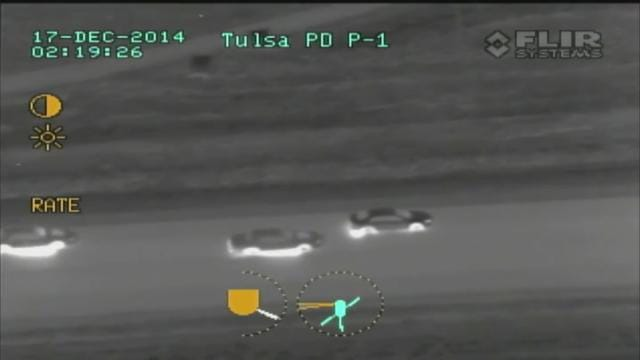 TPD Helicopter Footage Of Tulsa, Nowata High-Speed Chase