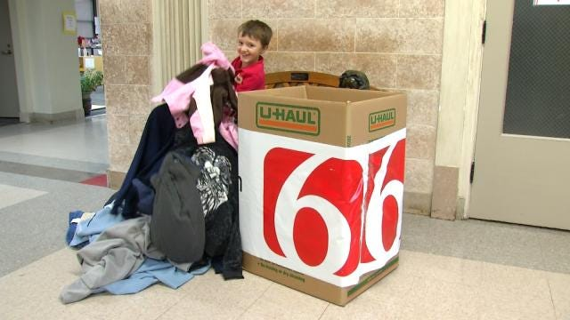 Tulsa Second Grader Starts Coat Drive To Help Those In Need