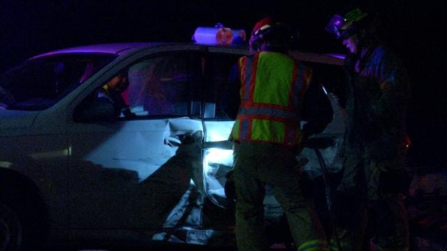 Tulsa Firefighters Rescue Woman After Hit-And-Run Wreck