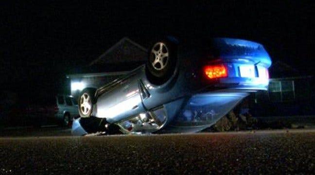 Tulsa Driver Flips, Abandons Ford Mustang