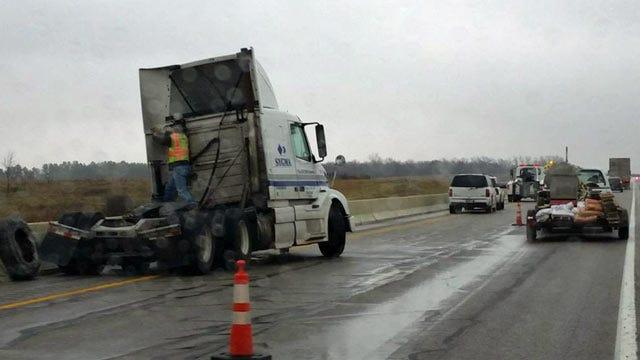 Semi Crash Slowed Traffic On Will Rogers Turnpike Near Adair Exit