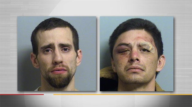 Two Men Arrested After Car, Foot Chase Across North Tulsa