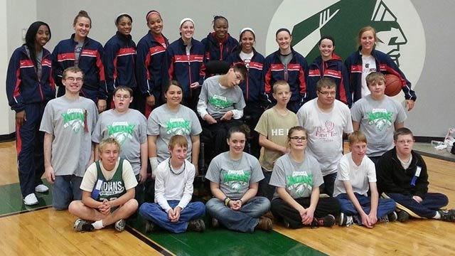 RSU Women's Basketball Special Olympians Partnership