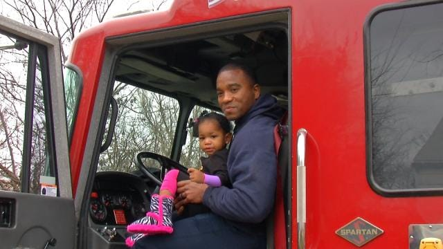 Tulsa Firefighters Deliver Gifts To Injured Children