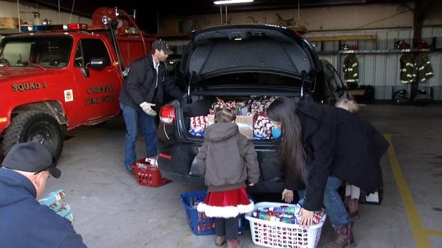 Catoosa Family, Helped By Community After House Fire, Gives Back