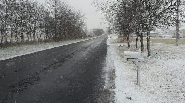 One To Three Inches Of Snow Expected Northwest Of Tulsa