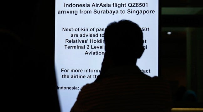 Search For AirAsia Flight Suspended
