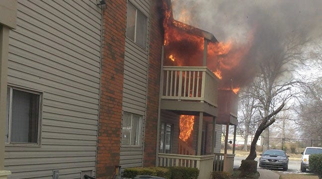 Tulsa Fire Department Investigating Apartment Fire