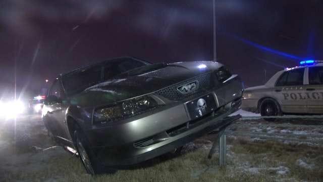Overnight Snow Wreaks Havoc On Oklahoma Drivers