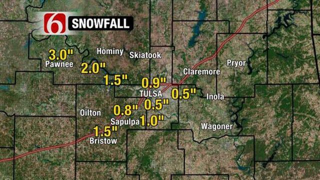 Snow Falls On Tulsa, Parts Of Northeast Oklahoma