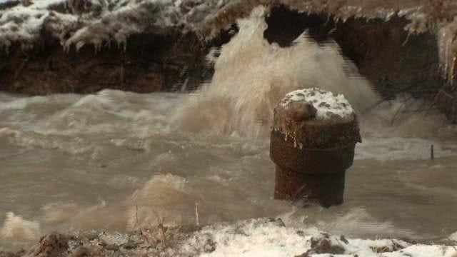 Tulsa Water Main Breaks Keep Water Crews Busy
