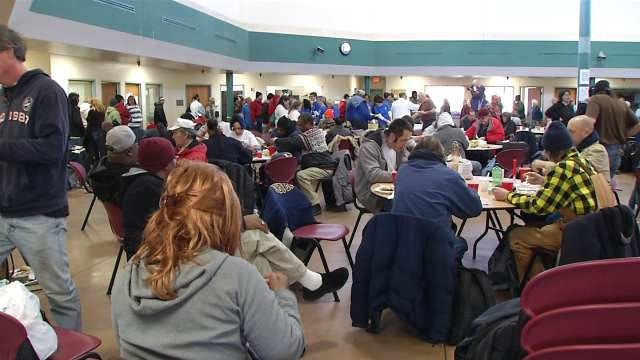 Hundreds Of Tulsans Receive Valentine's Meal