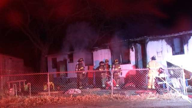 Unoccupied Sand Springs Mobile Home Destroyed By Fire
