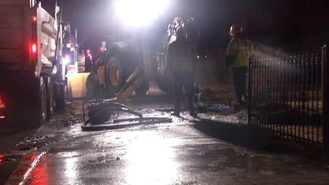 City Crew Repairs North Tulsa Water Line Break