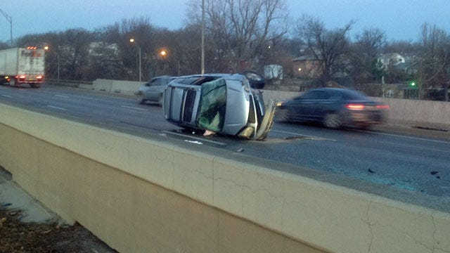 Woman Injured When SUV Rolls Over On Sand Springs Expressway