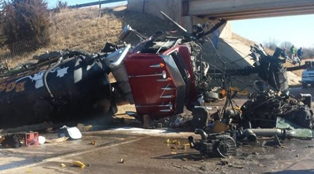 Cimarron Turnpike Closes After Semi Truck Wreck