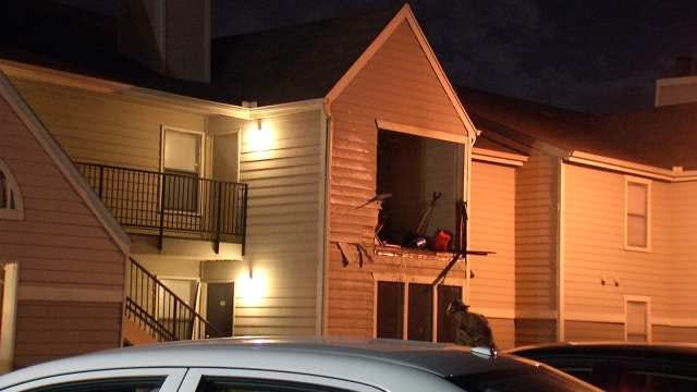 Fire Damages Balcony Of East Tulsa Apartment