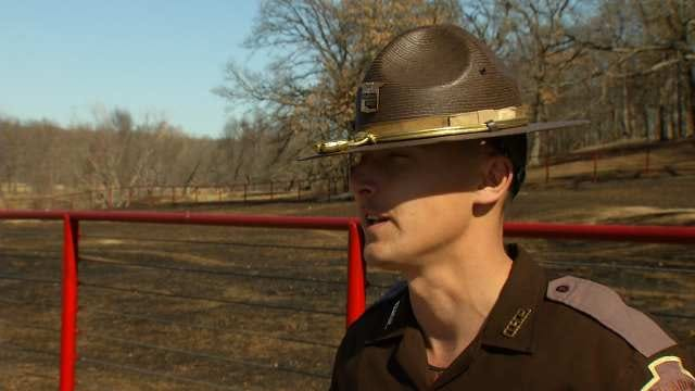 Trooper Uses Firefighter Instincts, Saves Rogers County Home