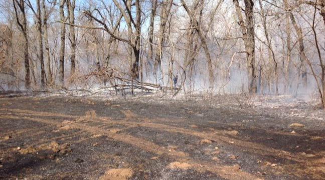 Metal Work Sparks Broken Arrow Grass Fire