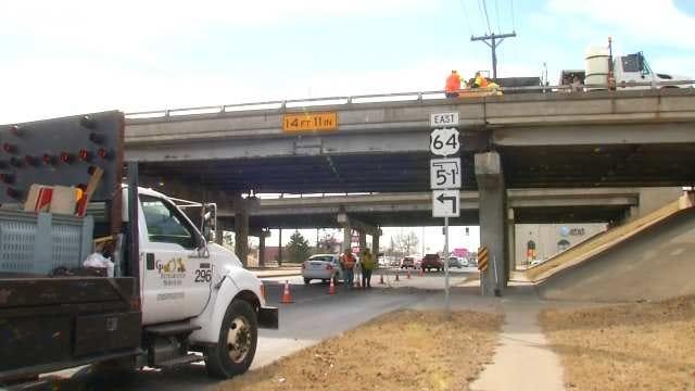 ODOT Repairs Hole In Broken Arrow Expressway Bridge Over Lewis
