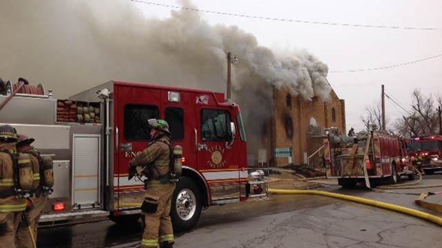 75-Year-Old Church Building Burns Near Downtown Tulsa