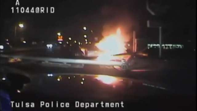 Caught On Video: Tulsa Police Officer Rescues Passenger From Burning Car