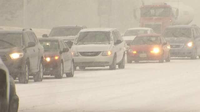 Snow Causes Headache For Tulsa Drivers
