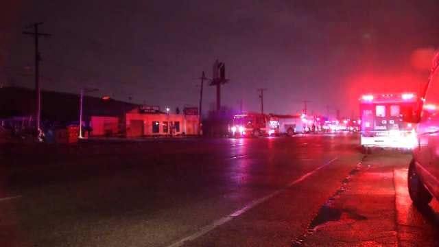 Downed Power Lines Blamed For Tire Fire Outside Tulsa Business