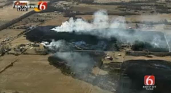 Grass Fires Burn Near Muskogee School, Coweta Ranch House