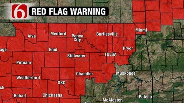 Red Flag Warning Issued For Most Of Oklahoma