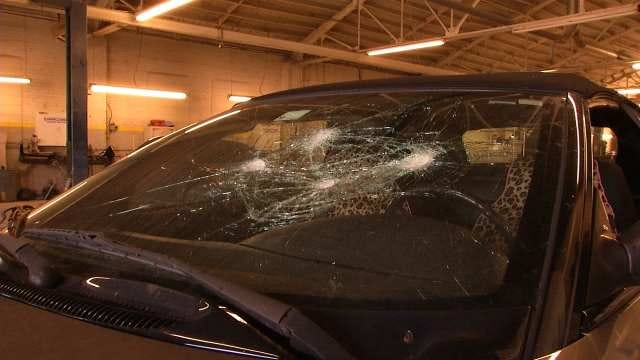 Sand Springs Teen Has Windshield Smashed In Alleged Bullying Incident