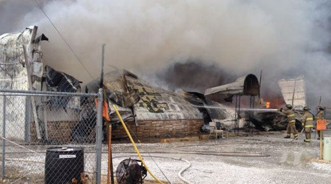 Frankie's Marine In Grove Destroyed By Fire