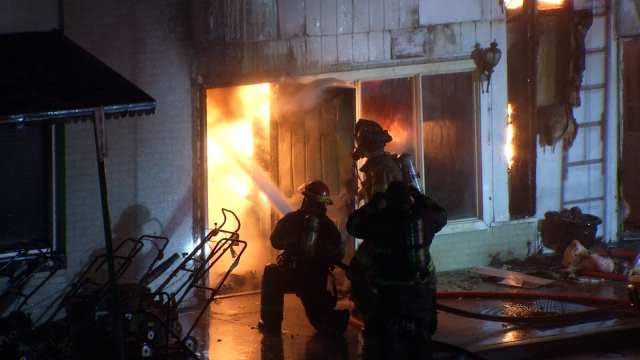 Sand Springs Couple Rescued From Downtown Business Fire