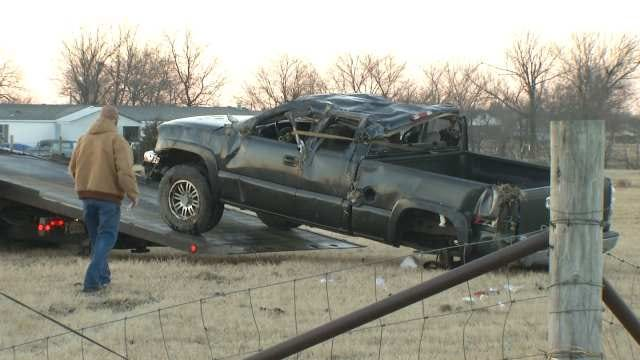 OHP: Pickup Driver Injured In Rogers County Rollover Crash