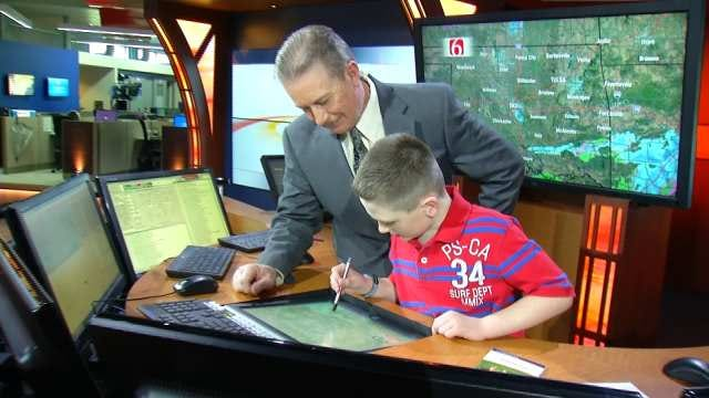 Ten-Year-Old Oklahoma Genius Matches Wits With WARN Weather Team